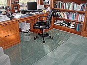 custom chair mats glass custom floor mats