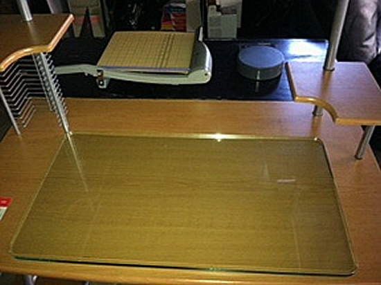 glass desk cover cover desk