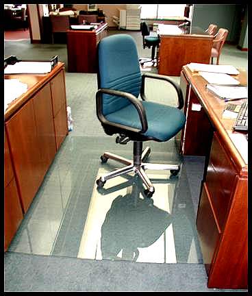 glass chair mats