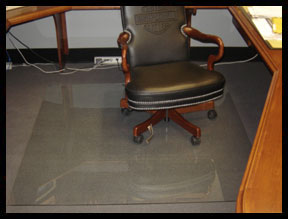Transparent Home Office Chair Mats