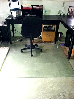 Chair Mats For Hardwood Floors - Non-Studded Protective Vinyl