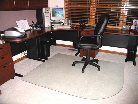 GlassMat office chair mat