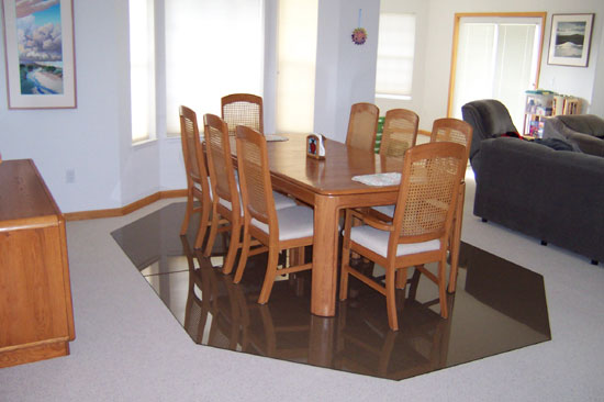Dining Room Floor Mats Custom Office Mats : glassmat photo 26 large from www.glassmat.net size 550 x 366 jpeg 38kB