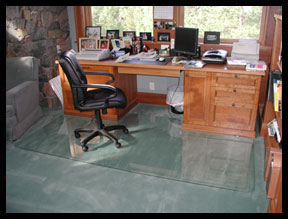 Glass Custom Chair Mats Custom Floor Mat Solutions